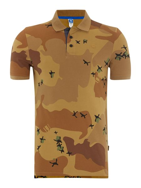 G-Star Camo print polo shirt