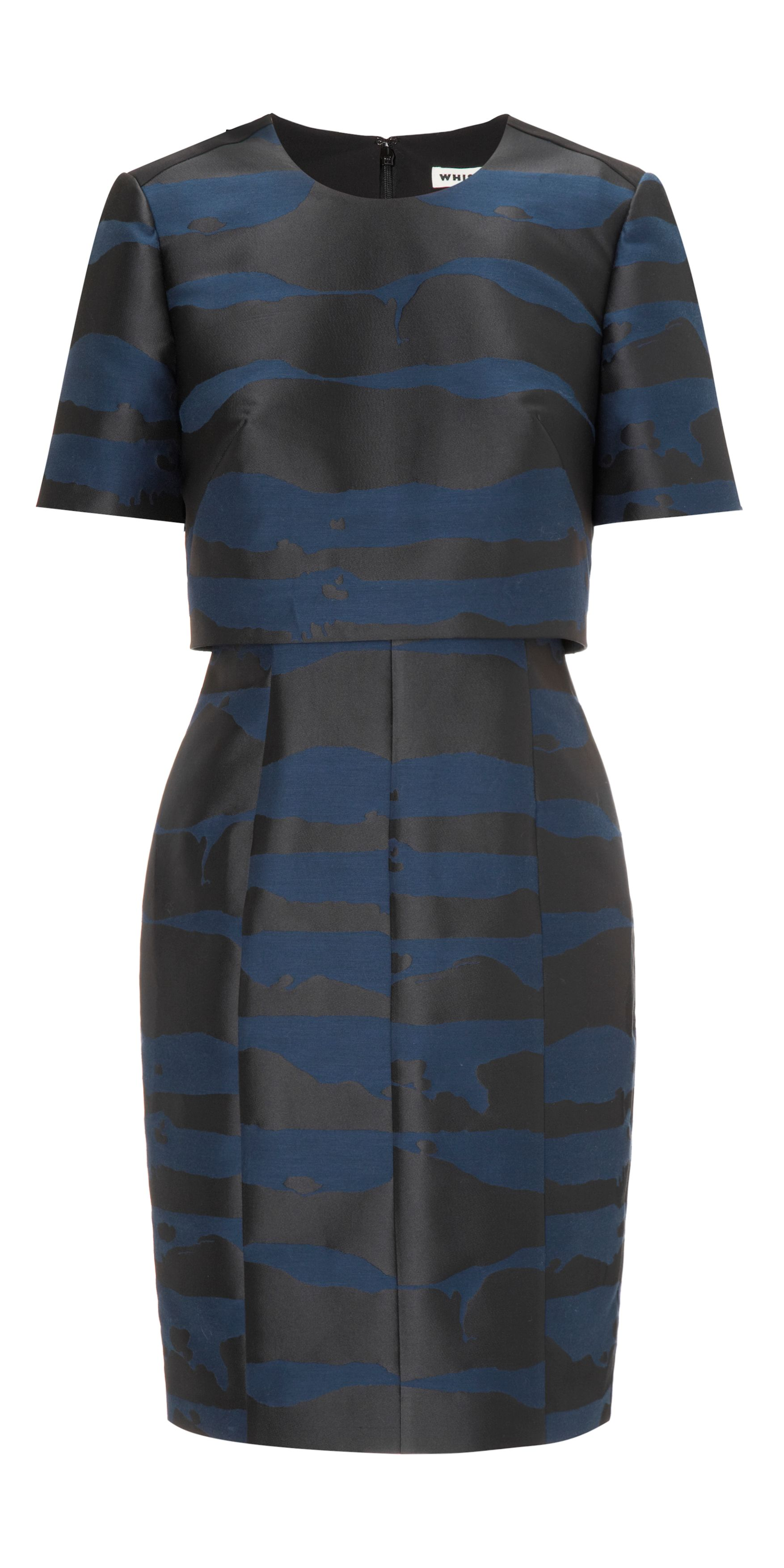Ink Blot Jacquard Dress