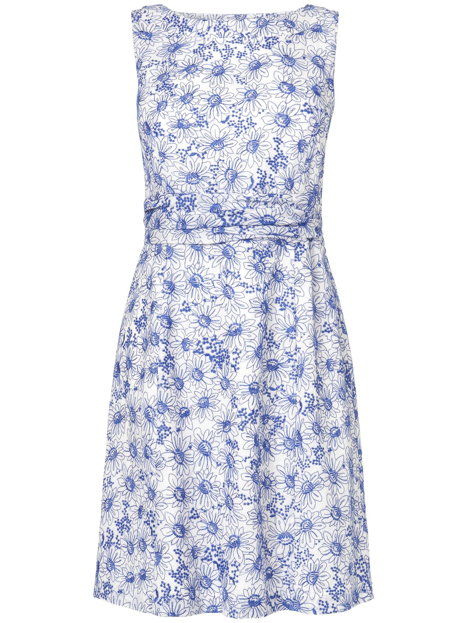 Anneka floral embroidered shift dress