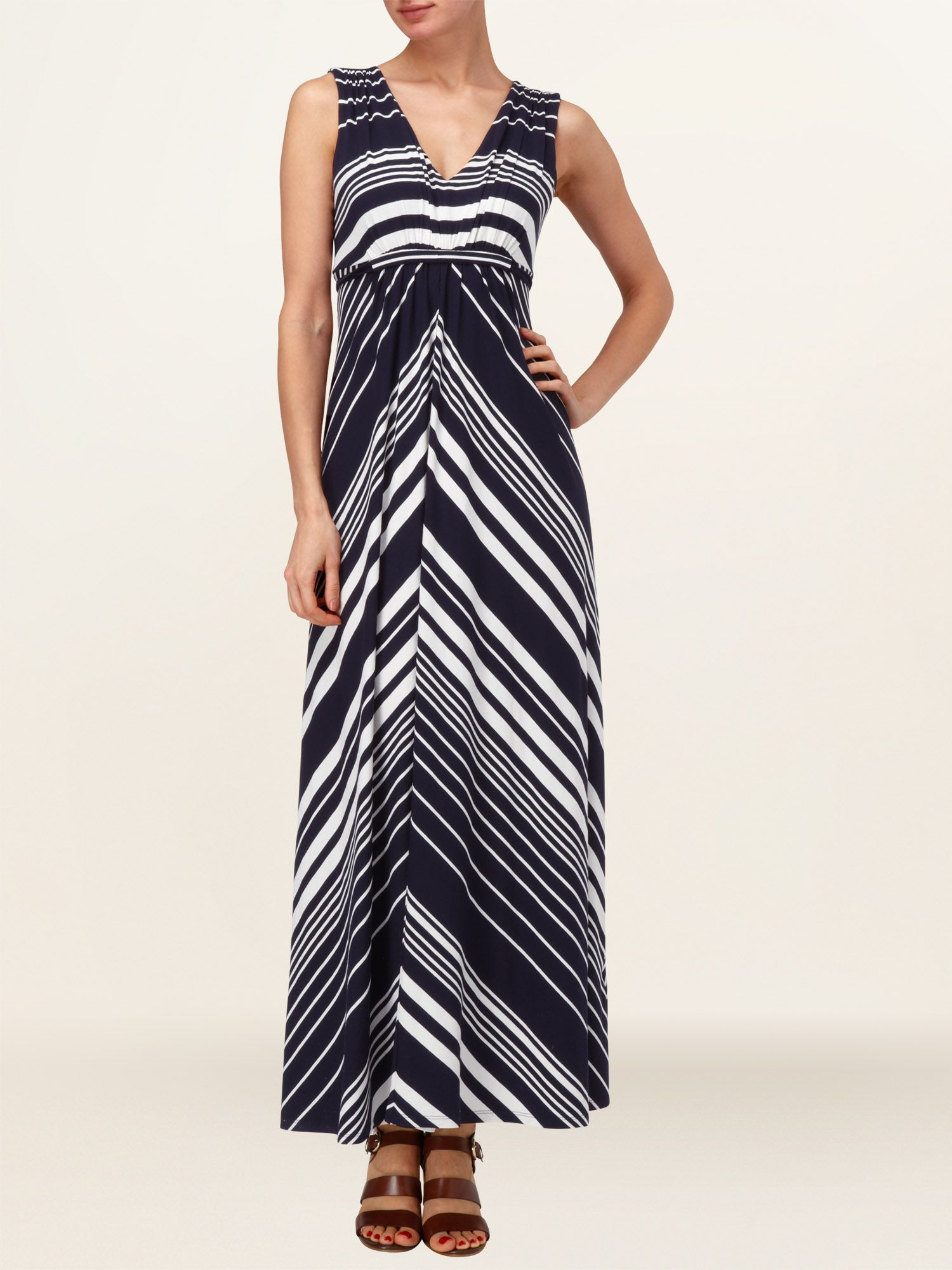Mandy stripe maxi dress