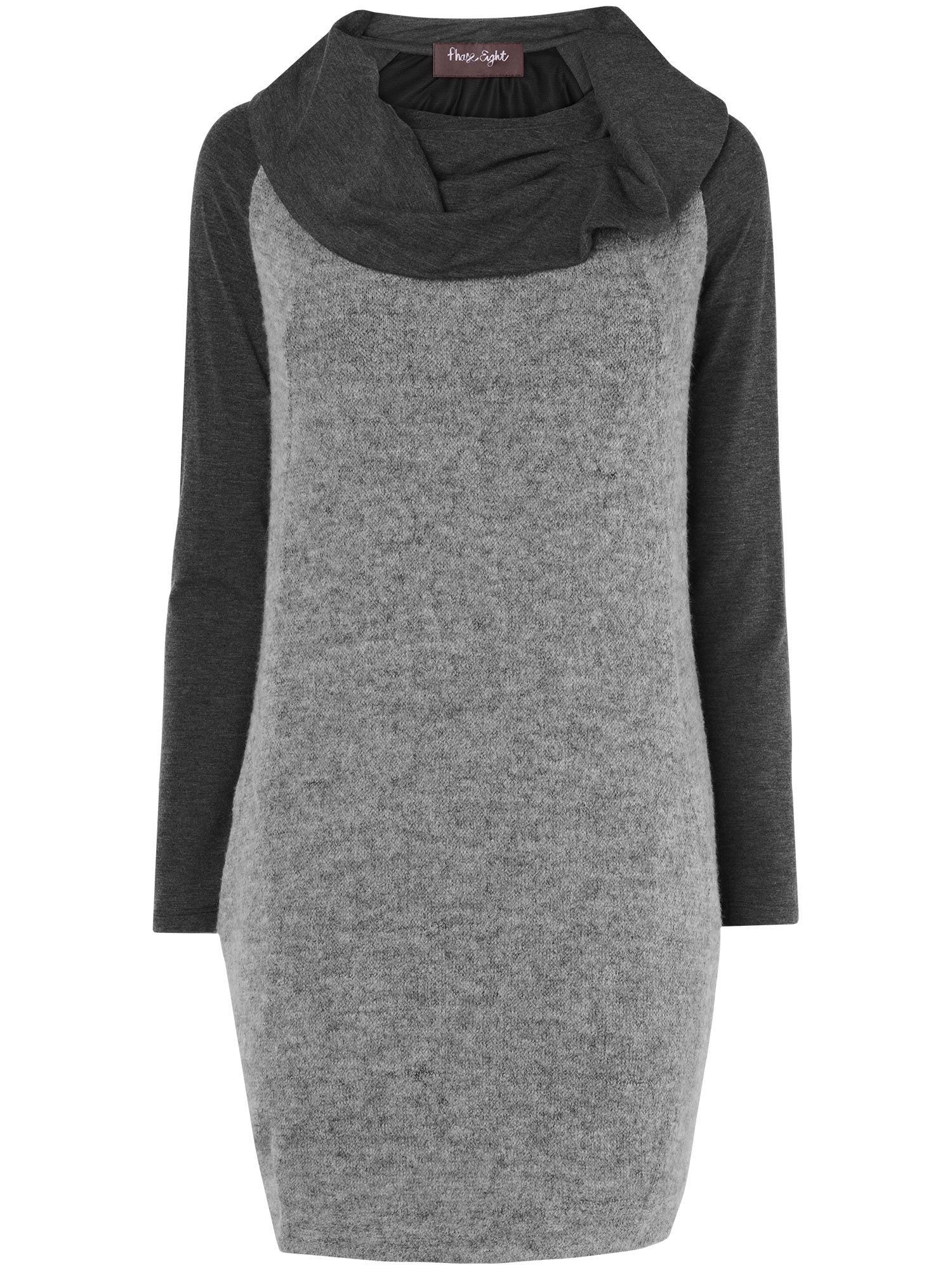 Michela mix knit dress