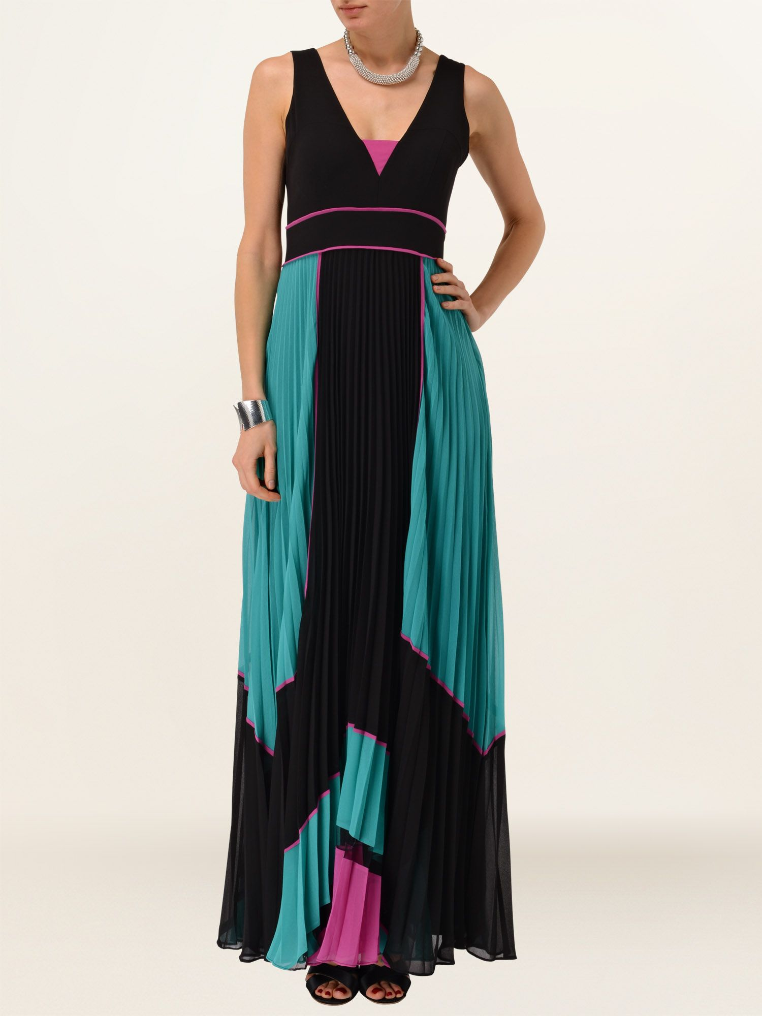 Indiana pleat maxi dress