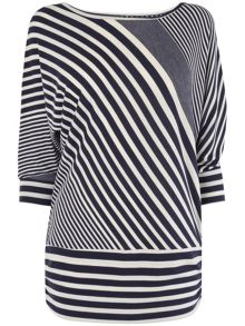 Diagonal stripe dana top