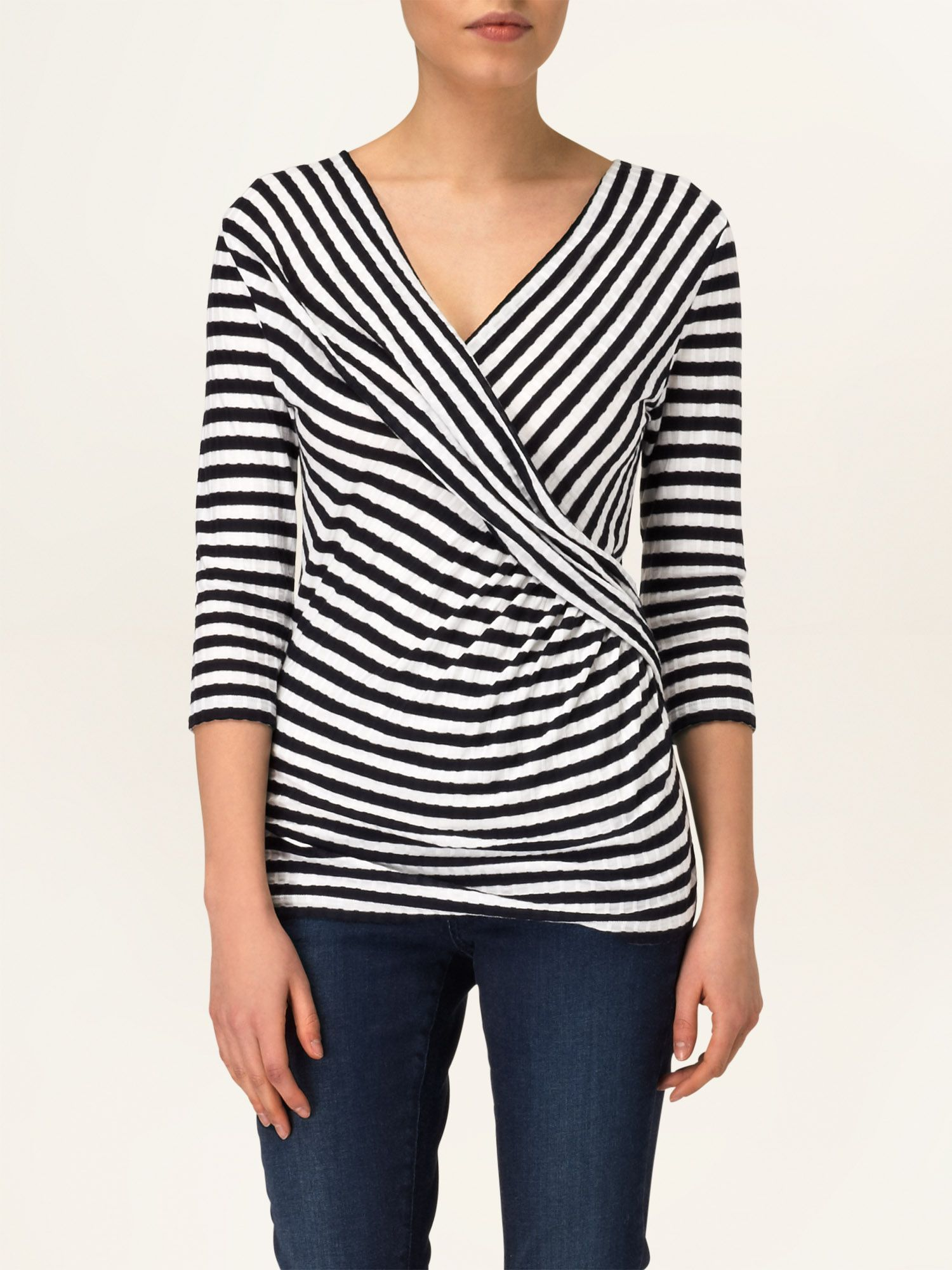 Caitlin stripe wrap top