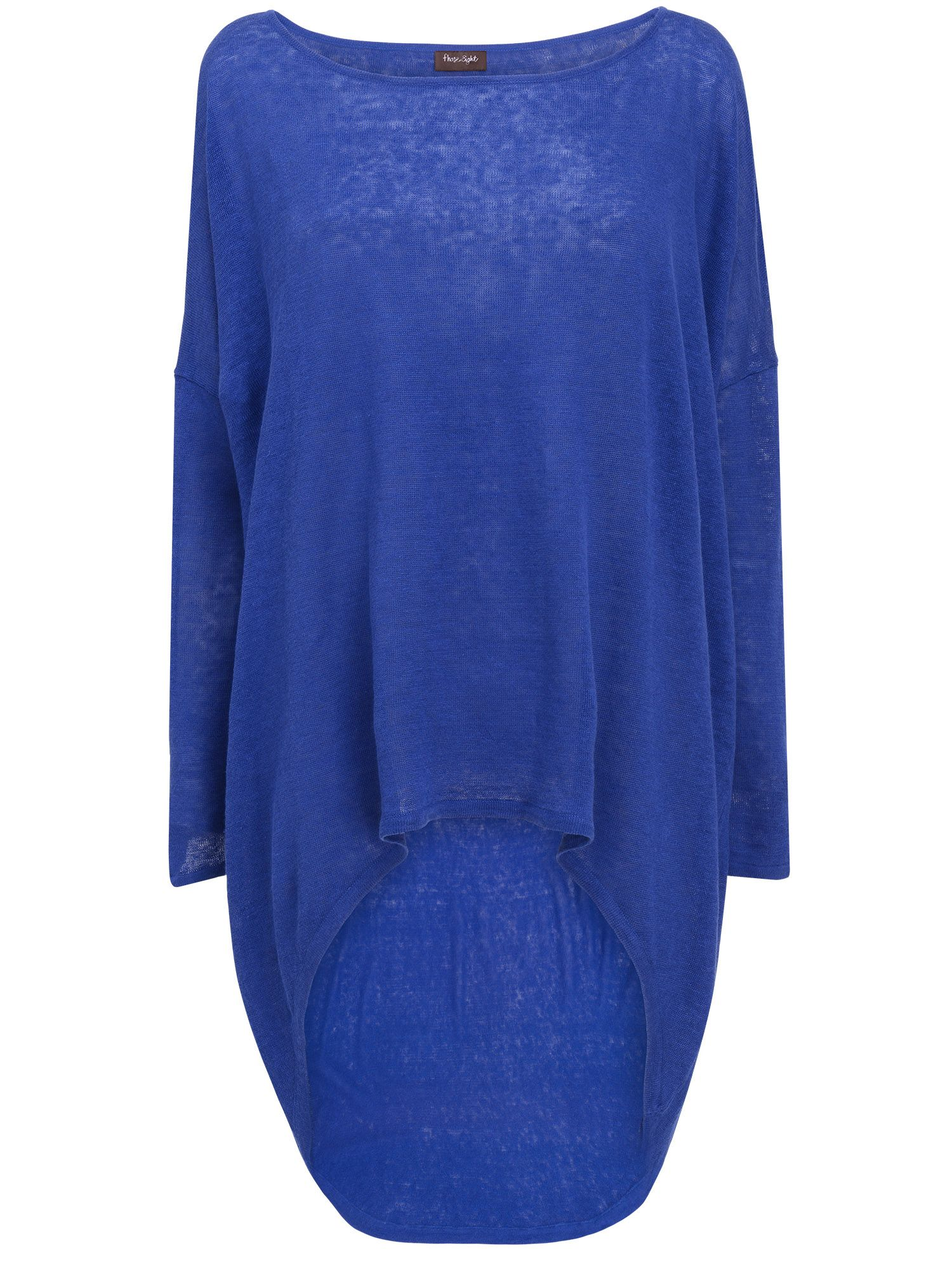 Elen ellipse hem linen knit jumper