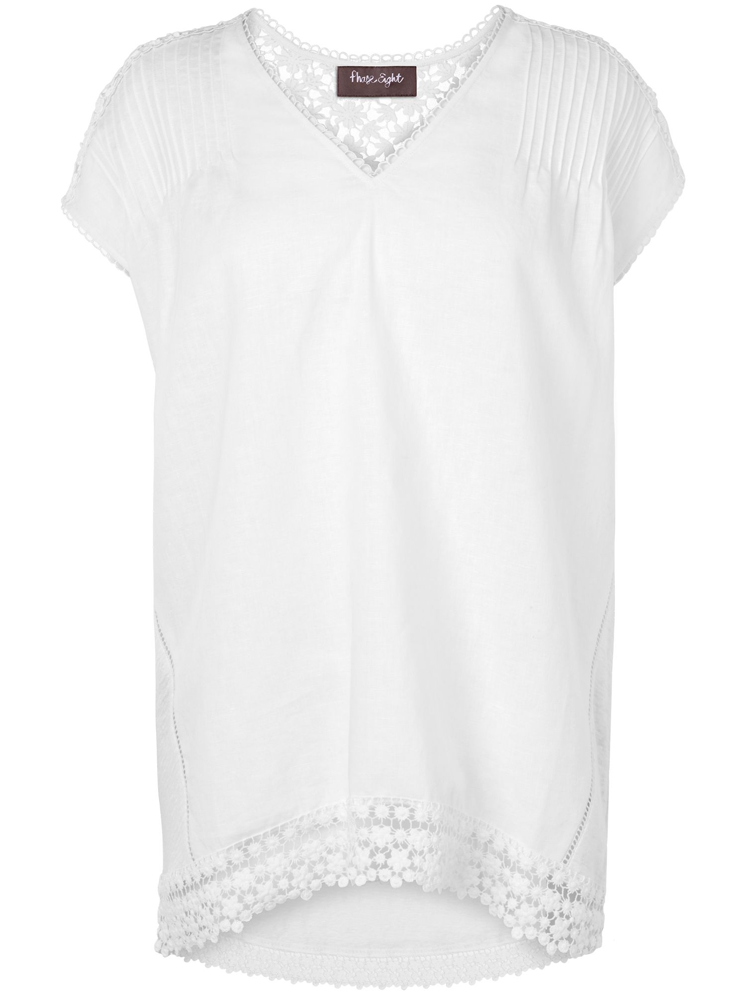 Kerry linen crochet blouse
