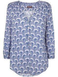 Sylvie tree print blouse