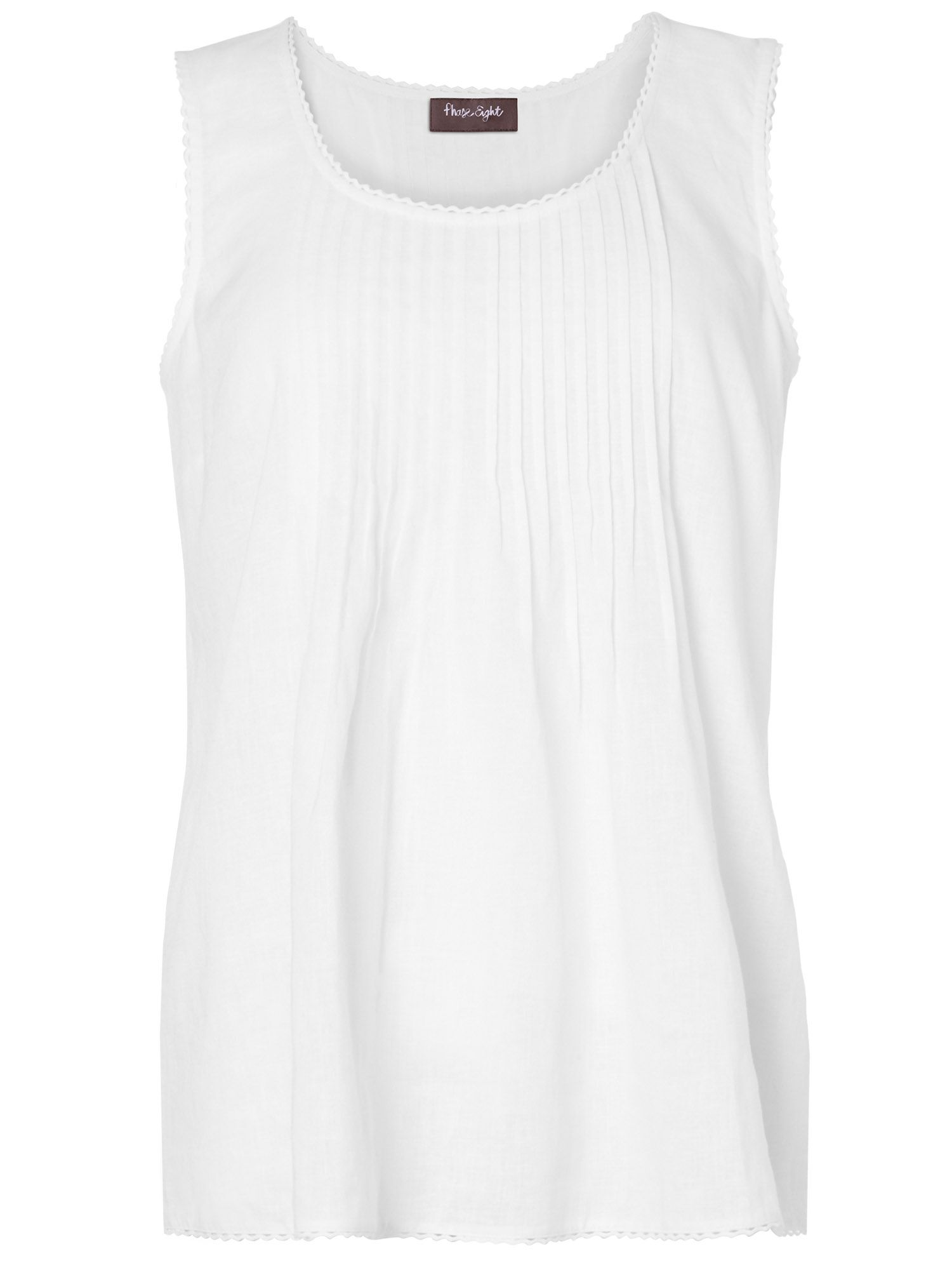 Mindy pintuck sleeveless linen top