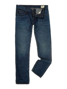 3301 low tapered medium aged denim jeans
