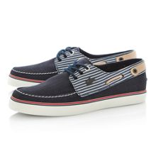 Sumac lace up striped boat shoes