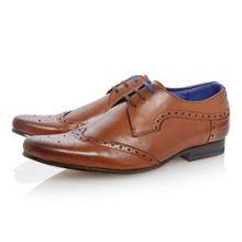 Hann lace up wingtip brogues