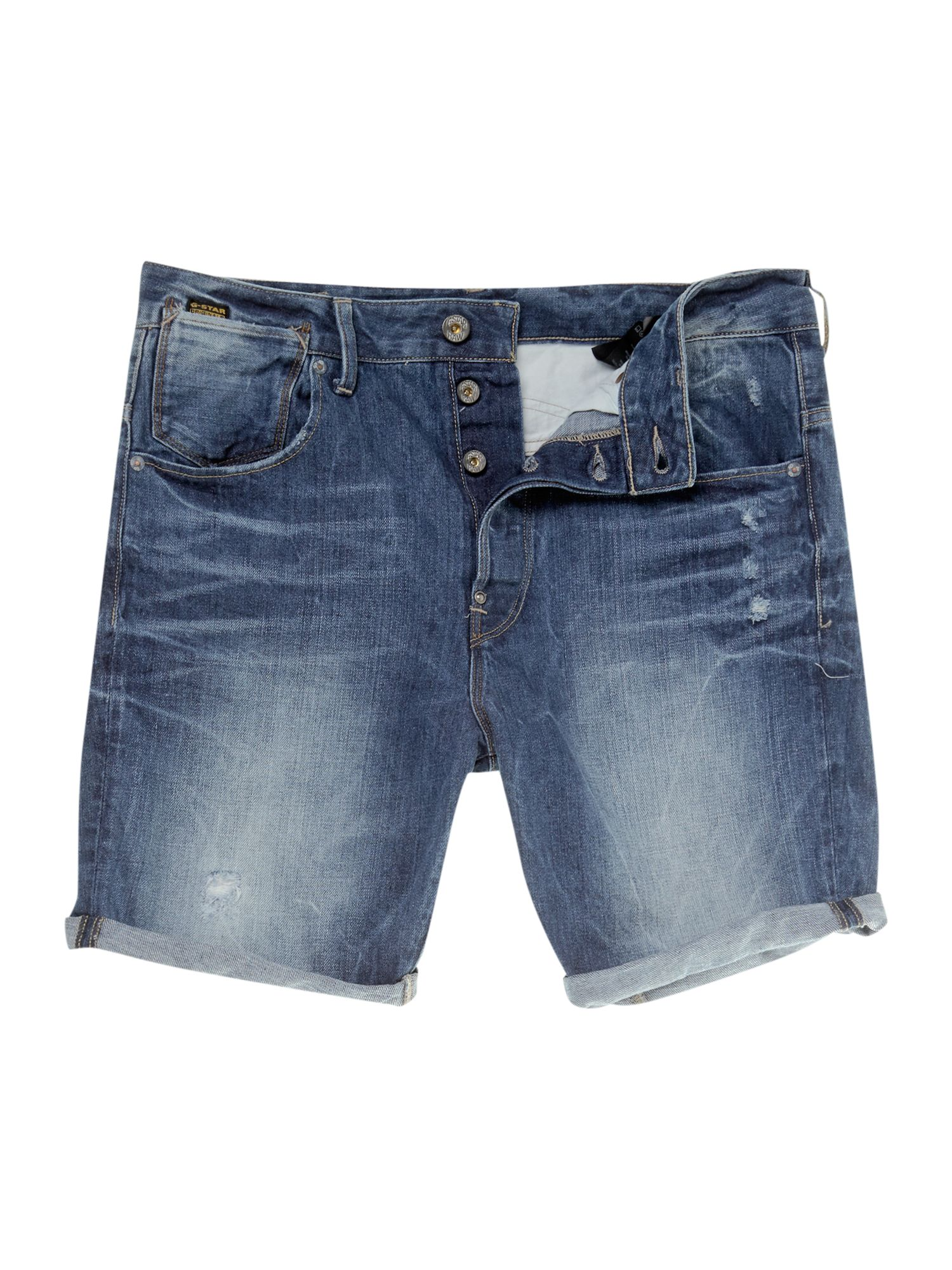 Tpared watton denim shorts