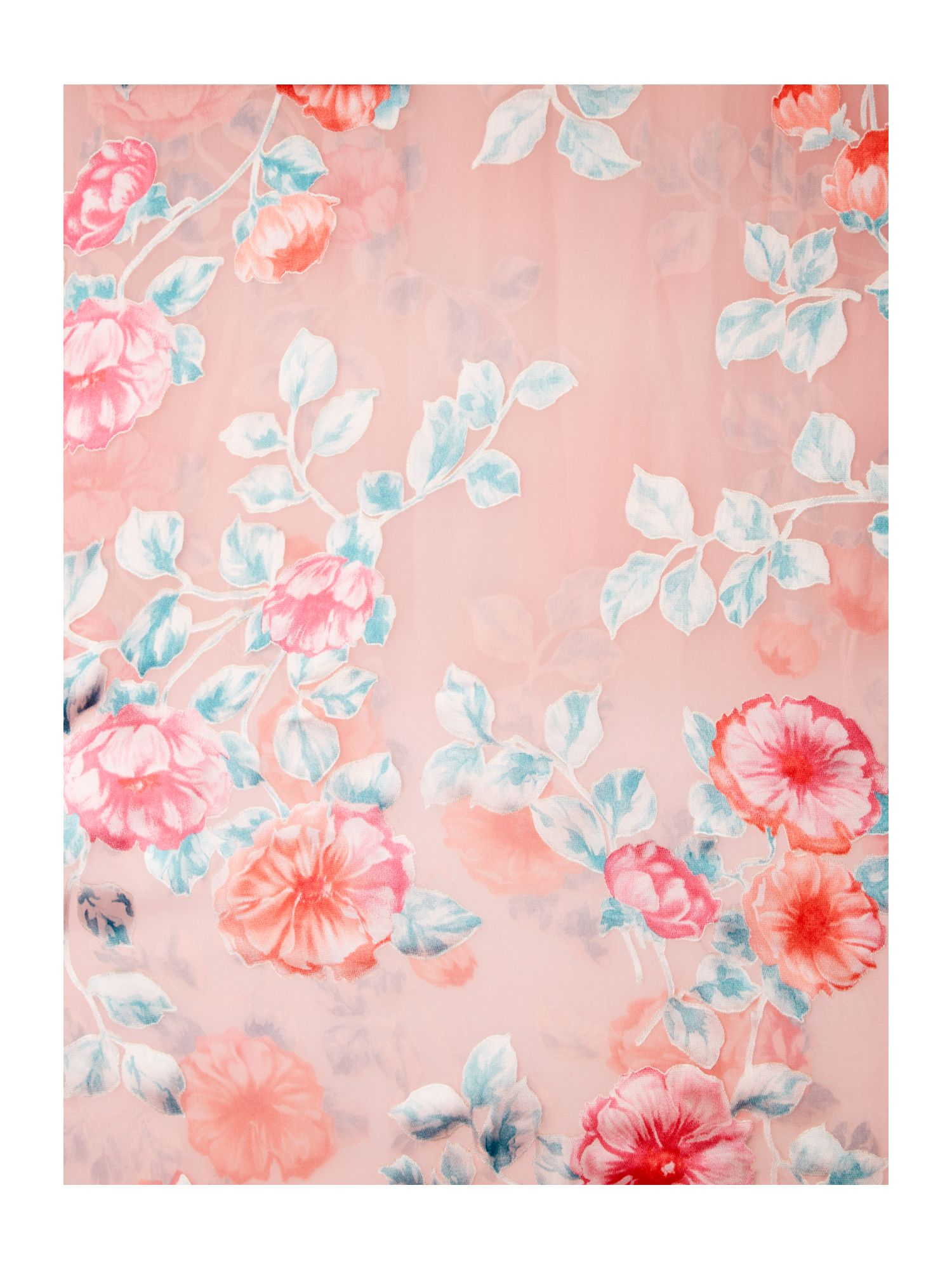 Burnout silk mix floral scarf