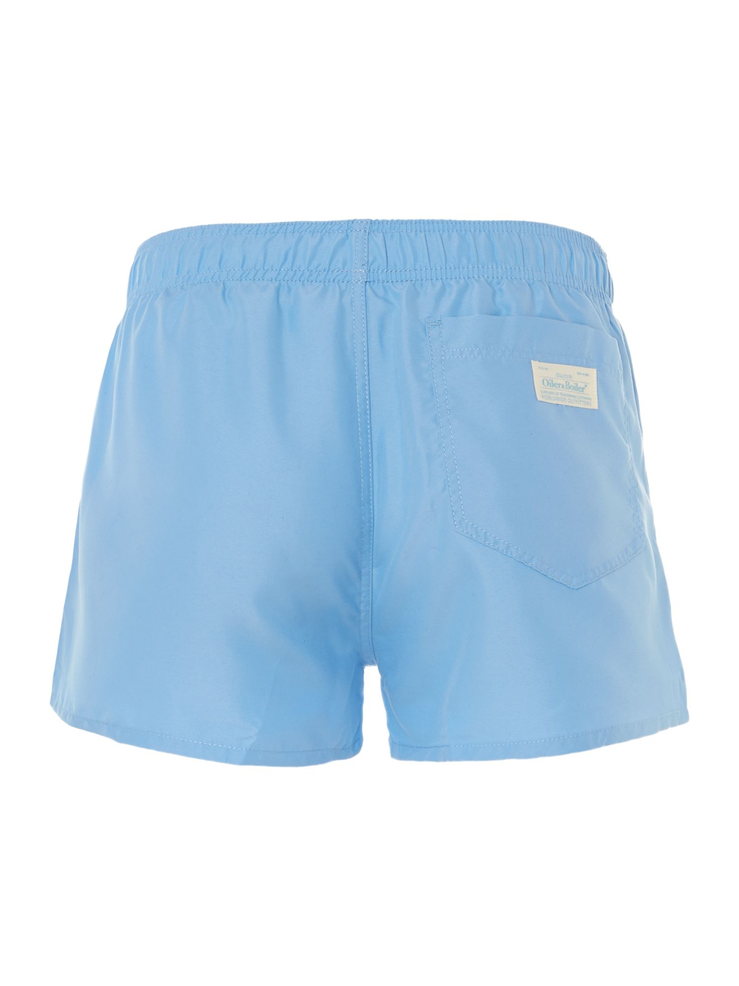Solid short swim trunk