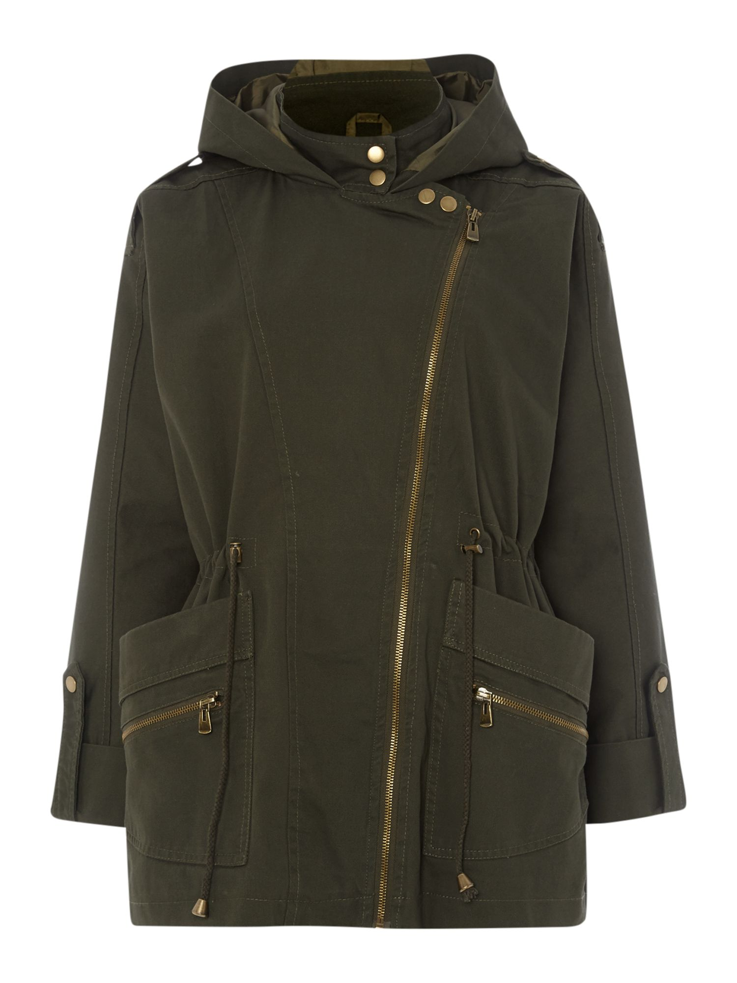Lightweight hooded parka jacket