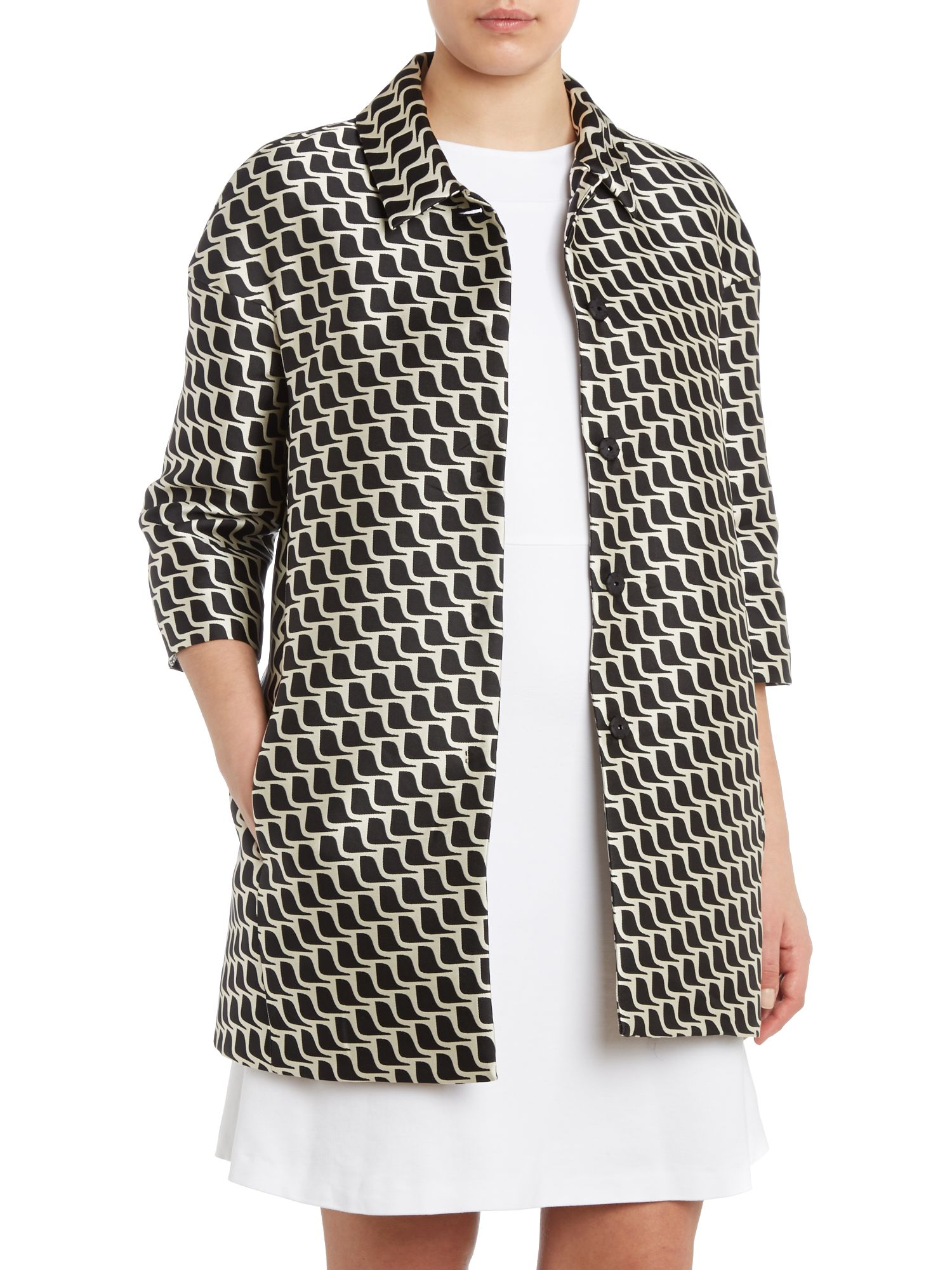 Chair print coat