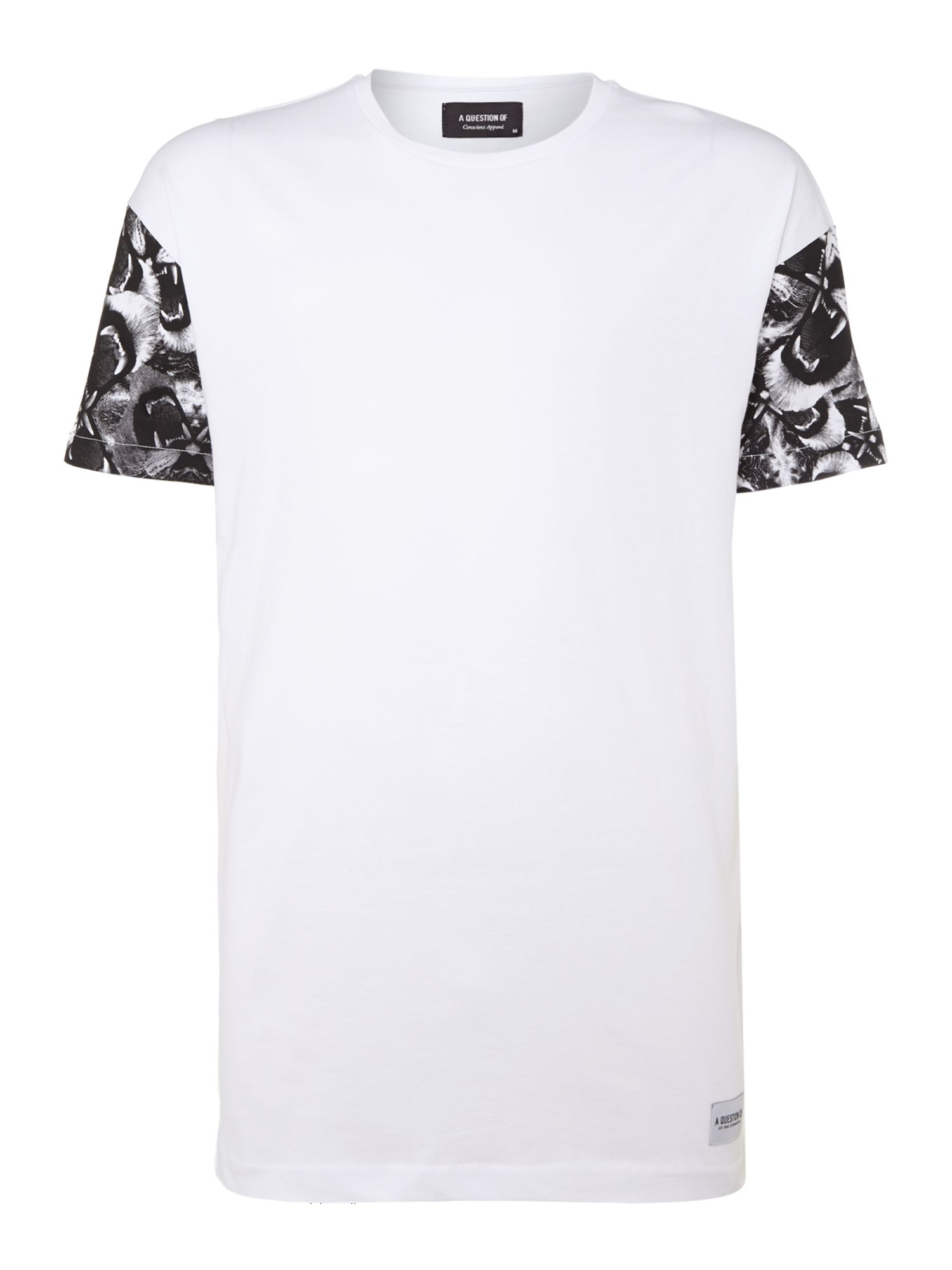 Printed sleeve t-shirt