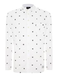 All over spider printed shirt