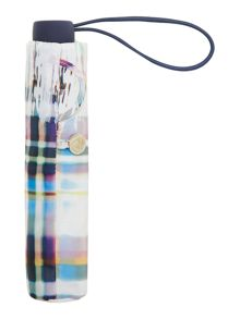 Abstract check superslim umbrella