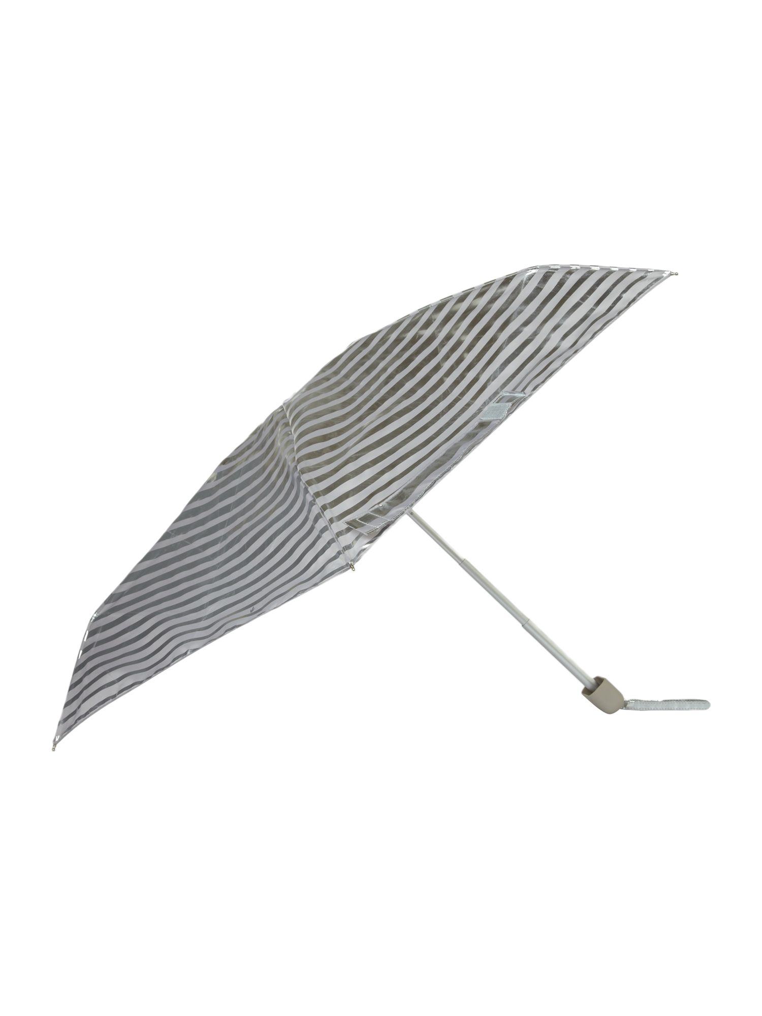 Silver shadow striped tiny umbrella