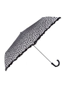 Cheetah print superslim umbrella with hook handle