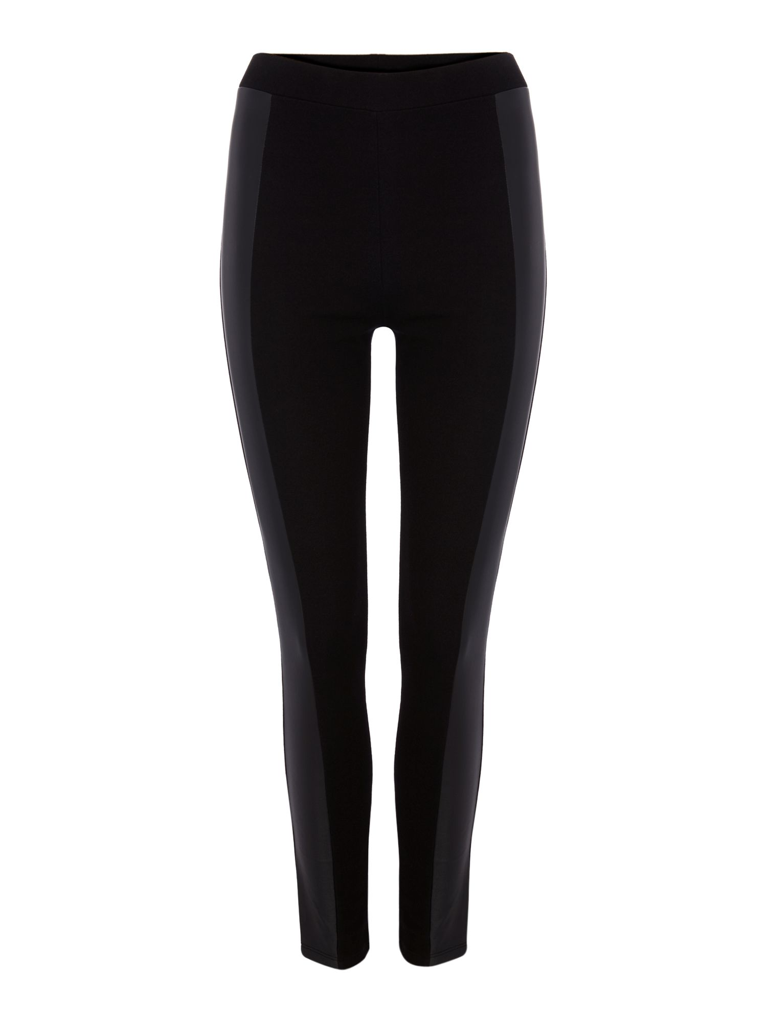 PU front panel leggings