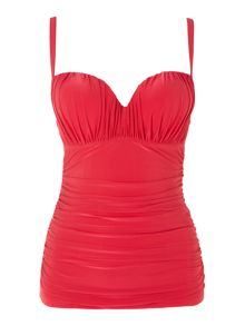 Shirred beauty underwired tankini