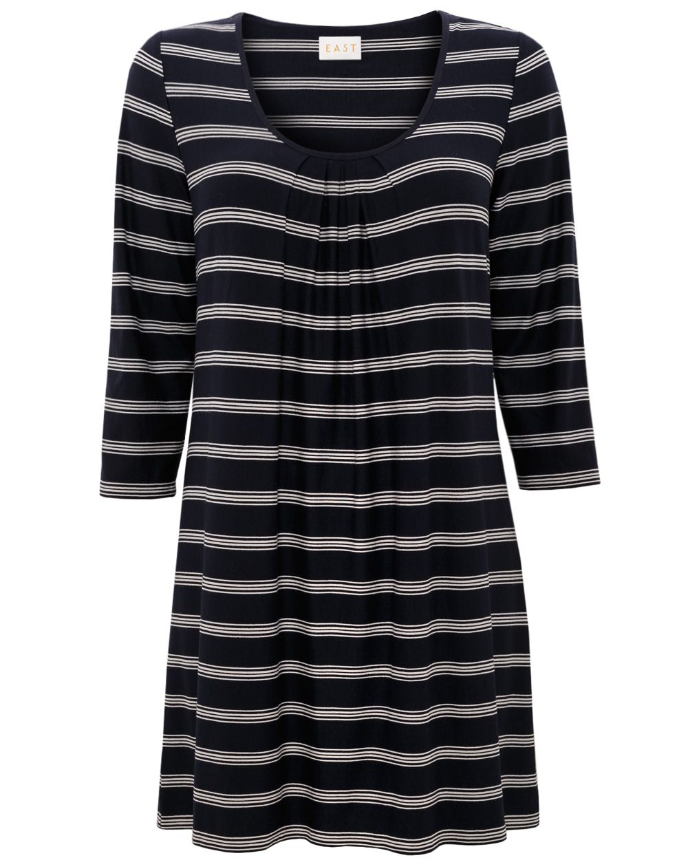 Asymmetric stripe tunic