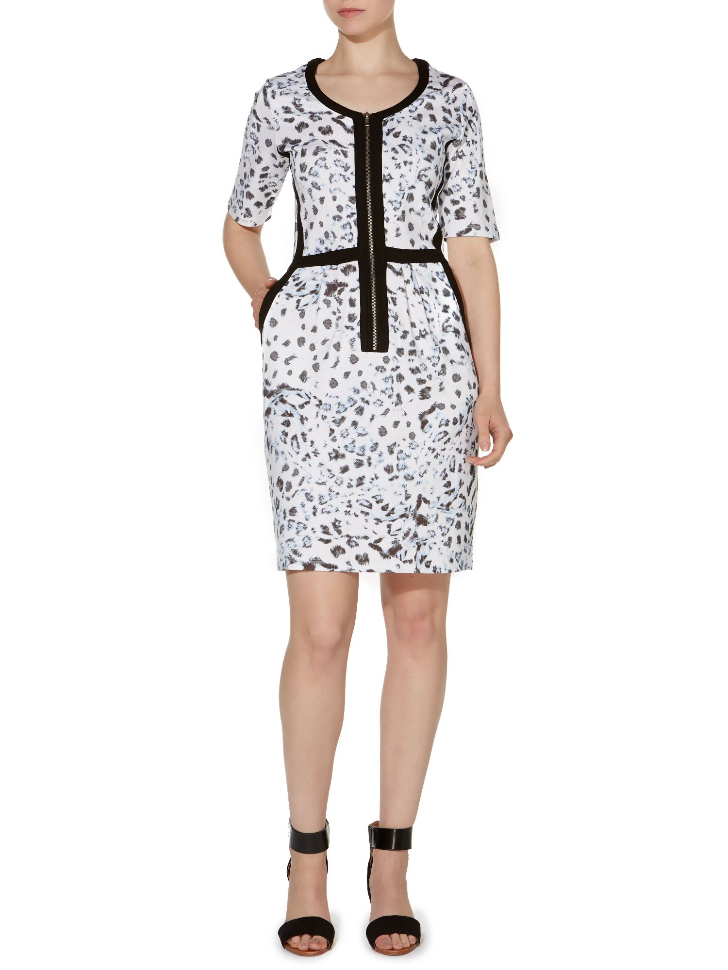 Printed Leopard Jersey Dress