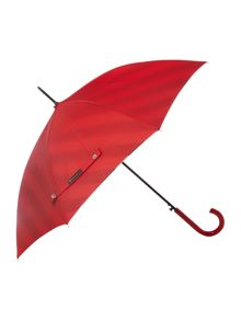 Lulu Guinness Bloomsbury umbrella with diagonal stripe lining