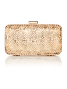 Mesh box clutch bag
