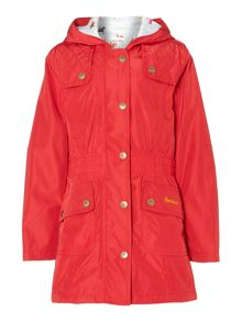 Girl`s waterproof hooded parka