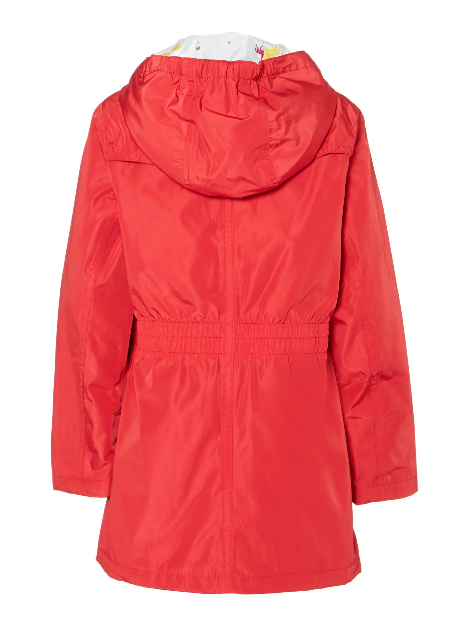 Girl's waterproof hooded parka
