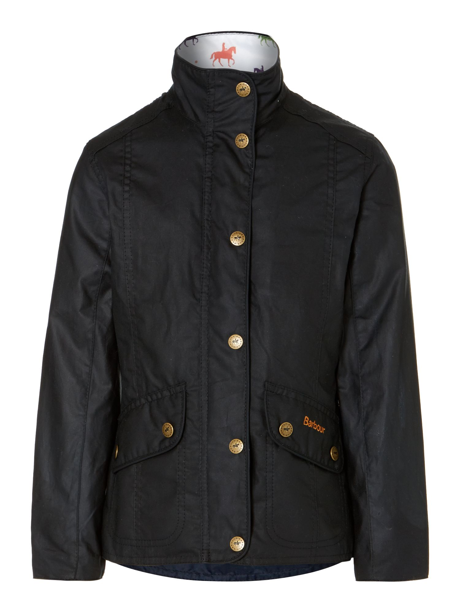Girl's Summer Ferndown waxed jacket