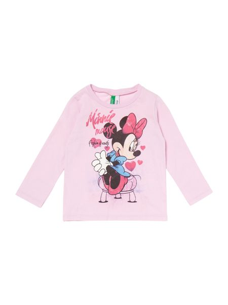 Benetton Girl`s Minnie Mouse print t-shirt