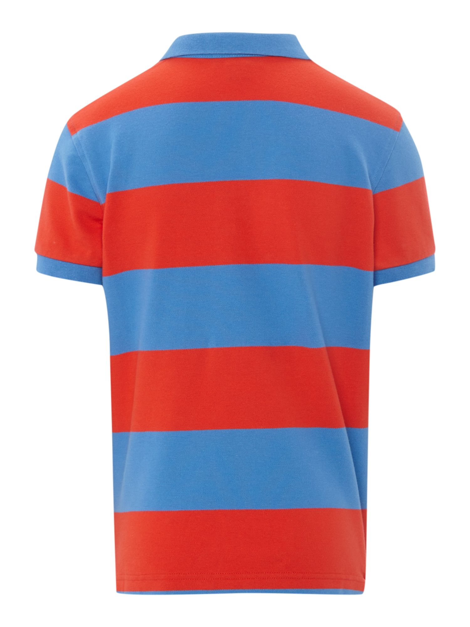 Boys block stripe polo shirt