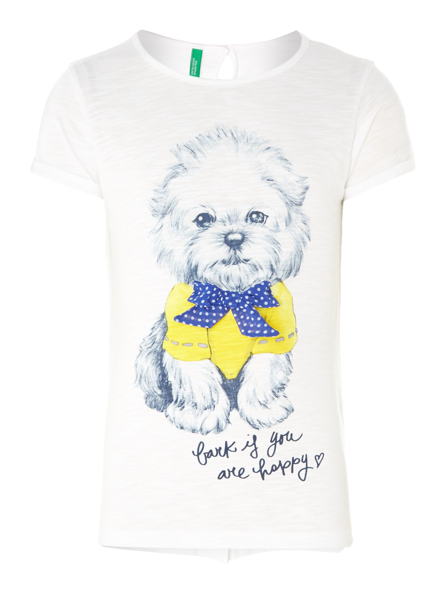 Girl`s dog print t-shirt