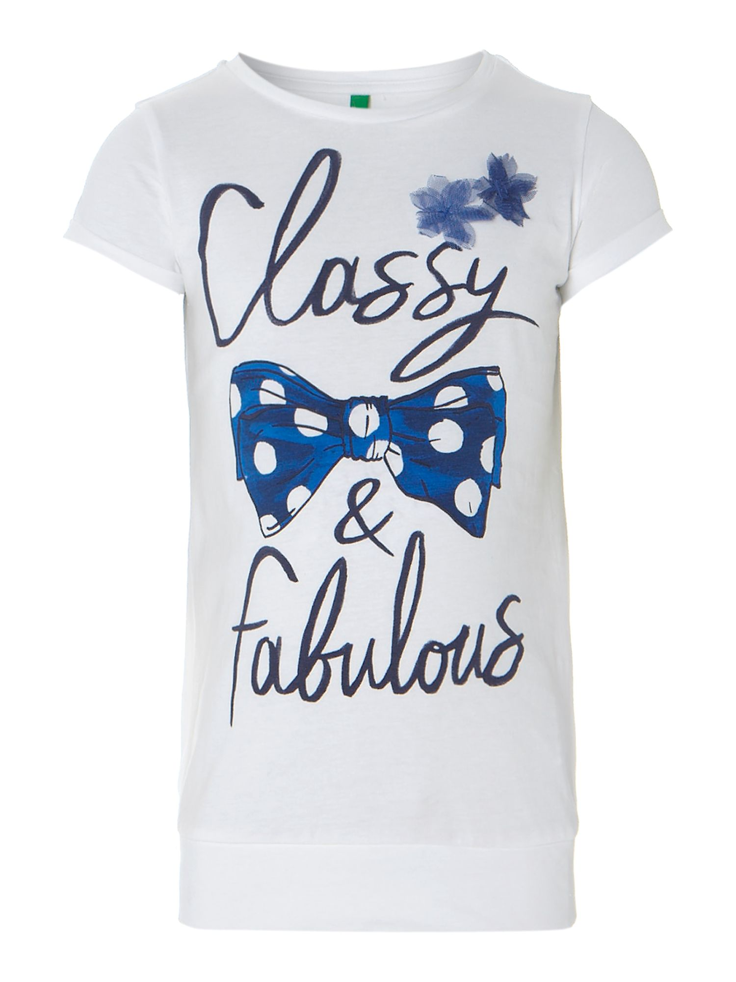 Girl`s bow print t-shirt