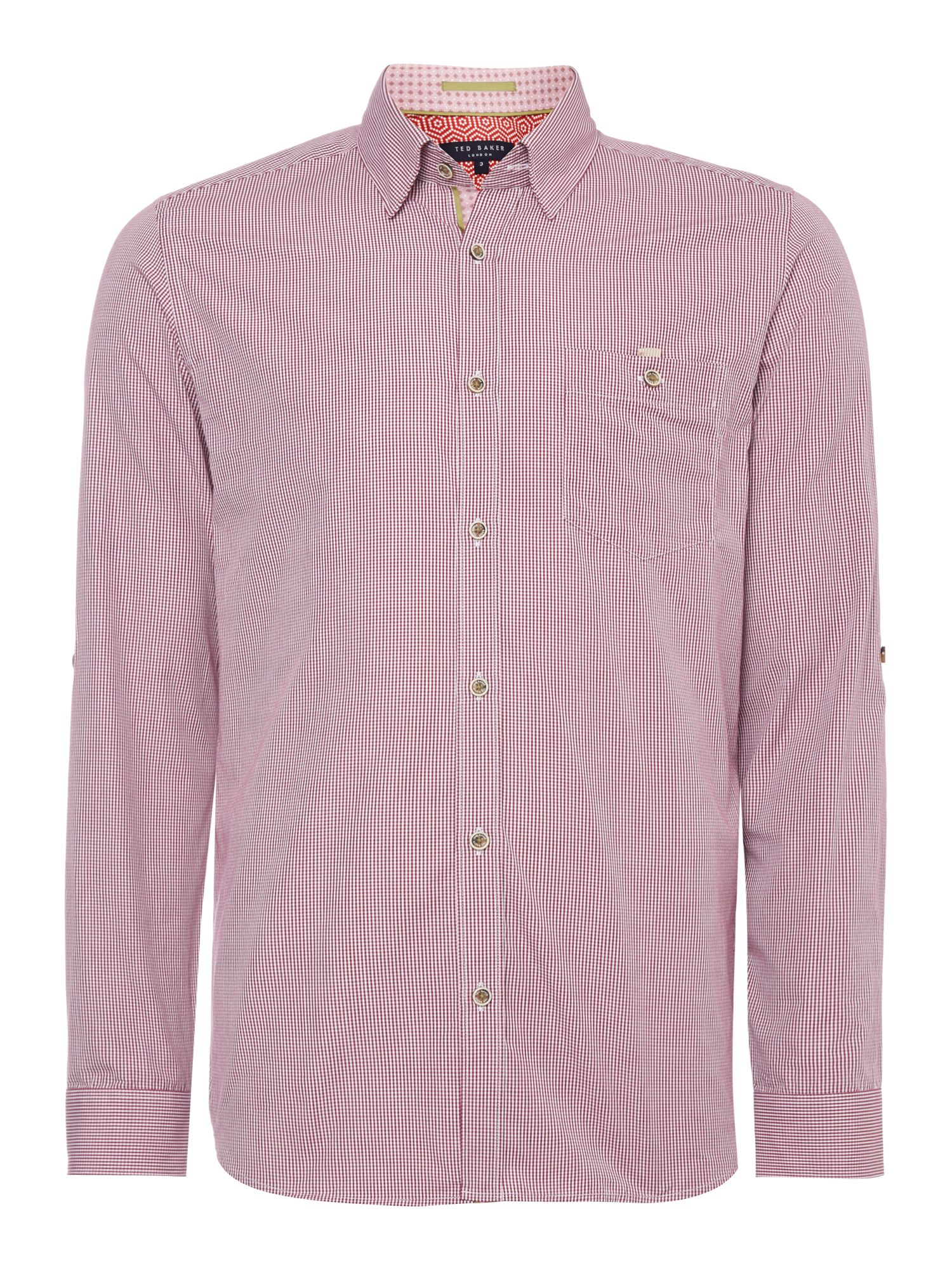 Soft check long sleeve shirt