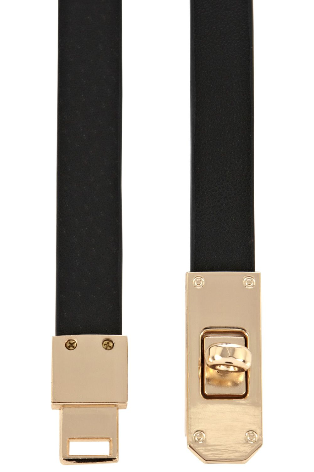 Twistlock skinny waist belt
