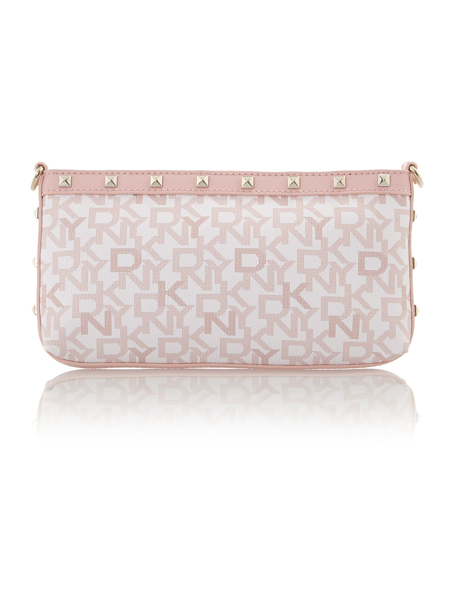 Coated logo pink small shoulder bag