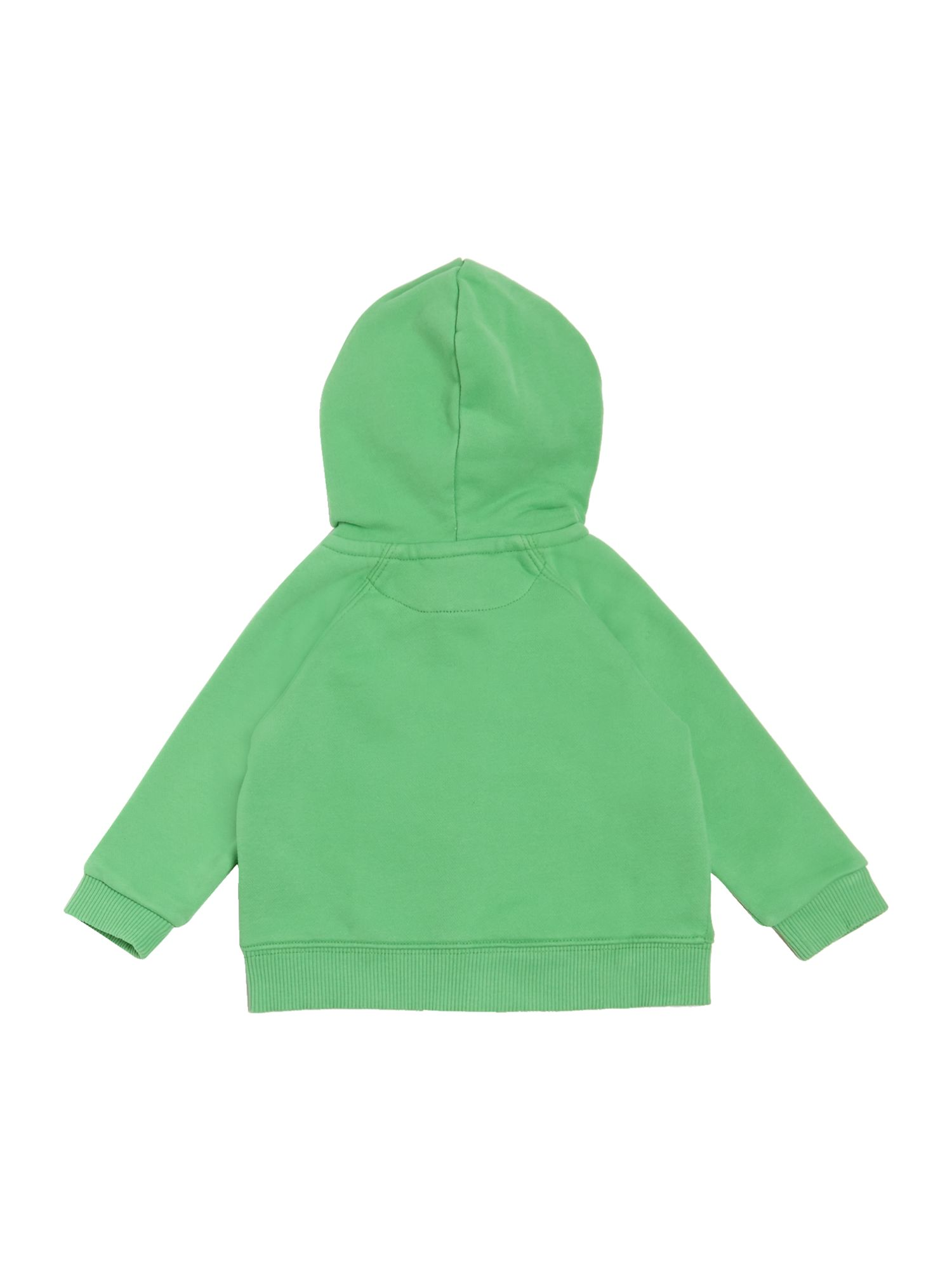 Boys zip through logo hoody