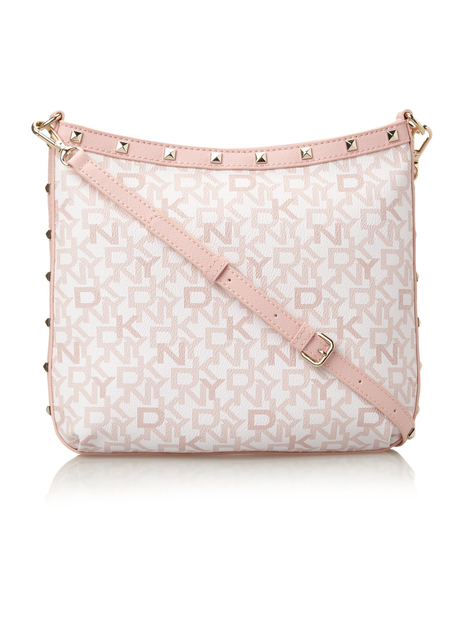 Coated logo pink crossbody bag