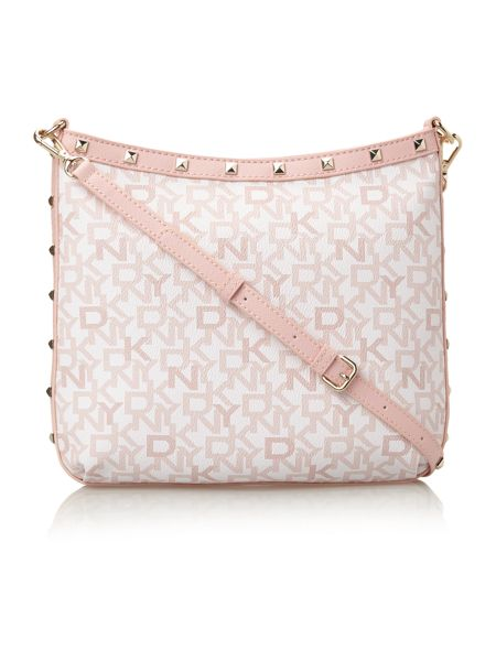 DKNY Coated logo pink crossbody bag