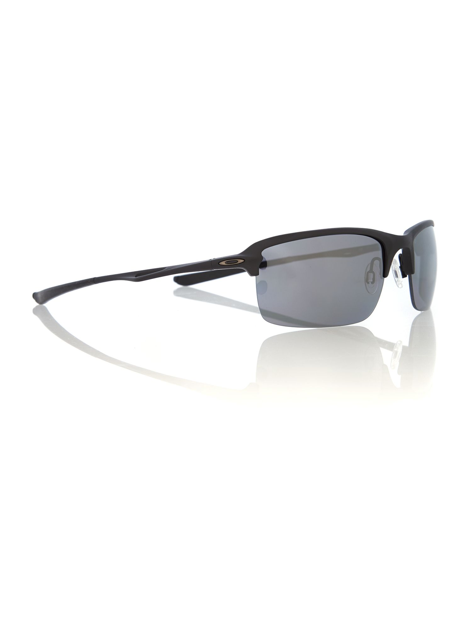 Men black iridium polarized rectangle sunglasses