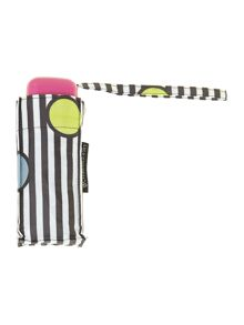 Lulu Guinness Spot on stripe tiny umbrella