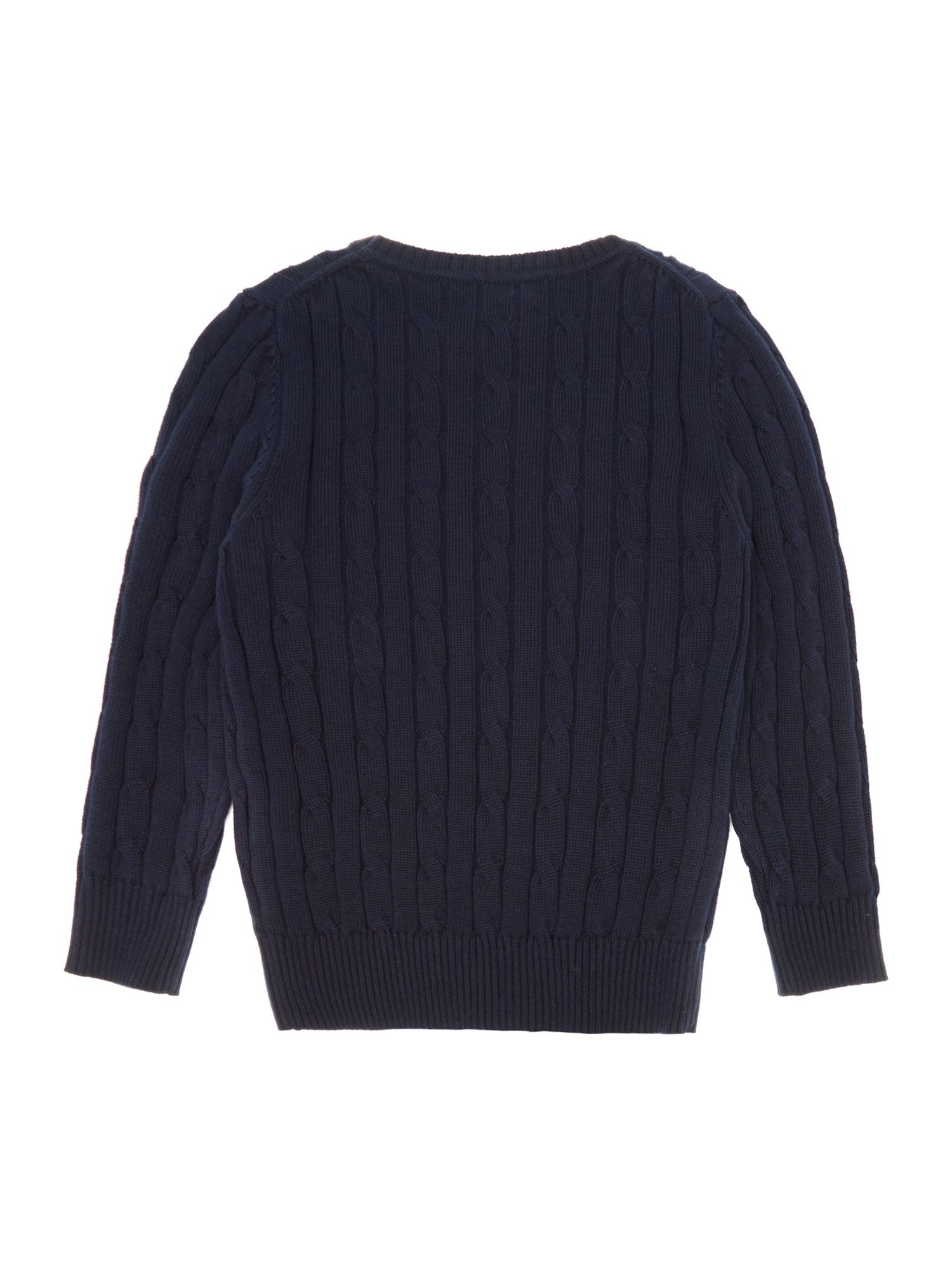 Boys V-neck cable jumper