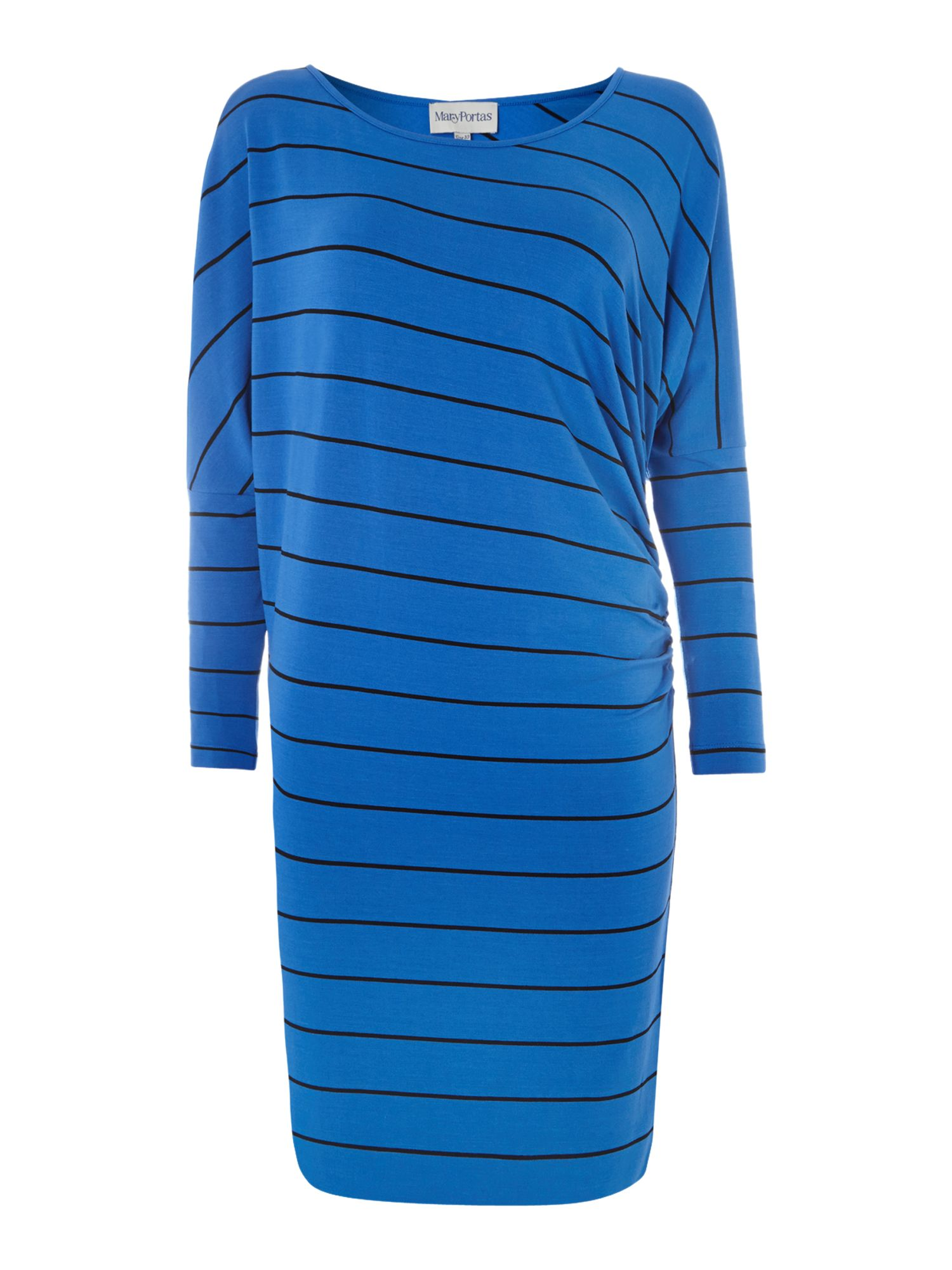 The stripe side ruche dress