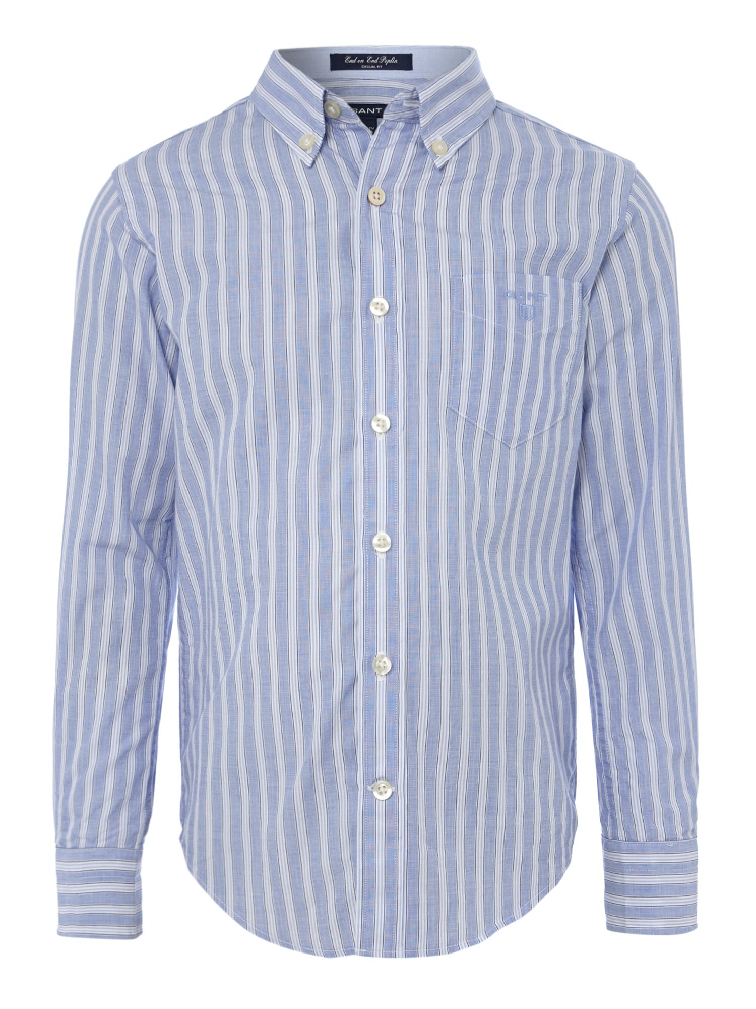 Boys stripe poplin shirt