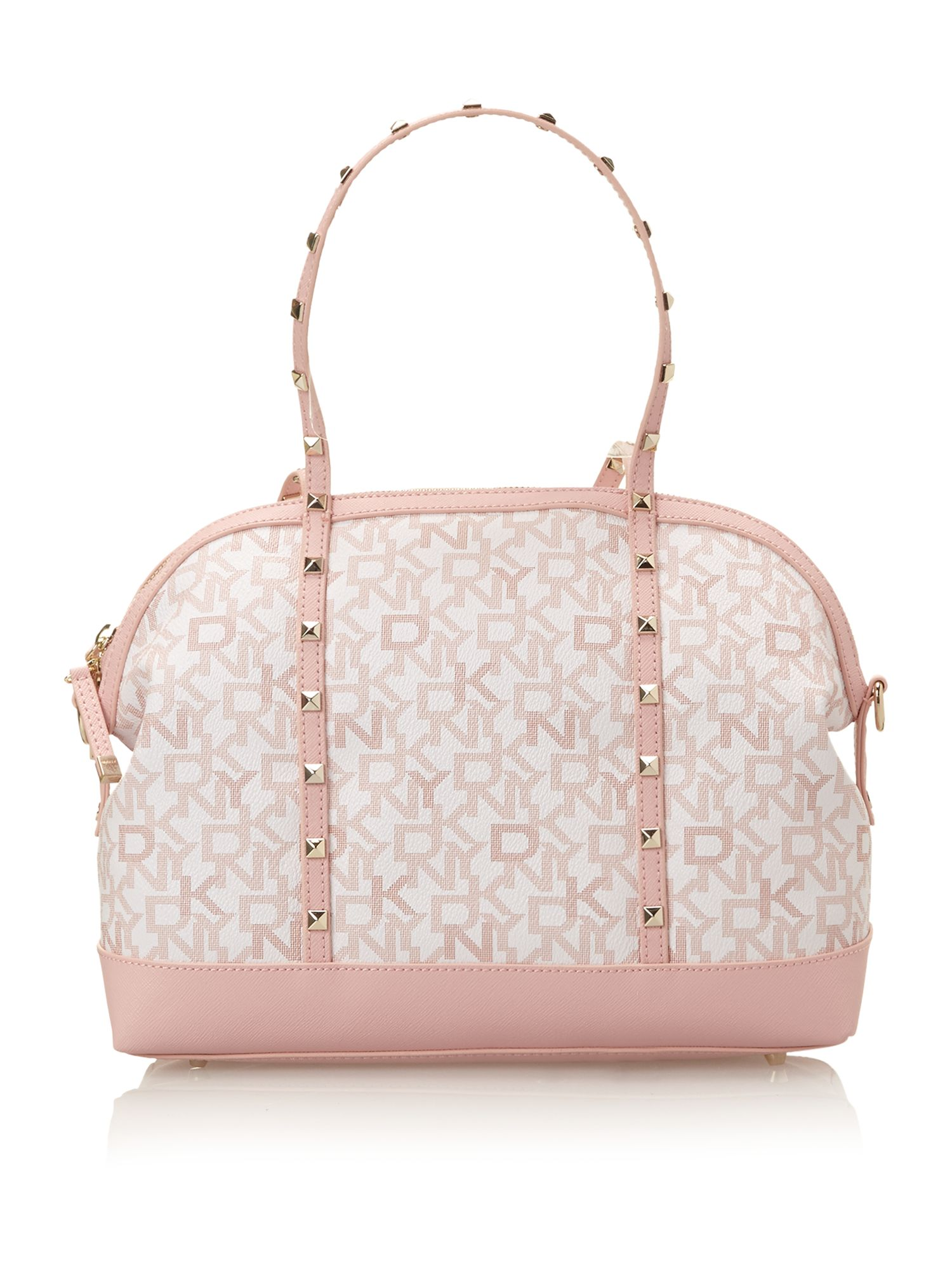 Coated logo pink dome bag